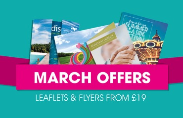 March offers on leaflets and flyers.